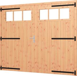 Opgeklampte deur XL dubbel met bovenraam