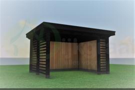 Veranda Excellent Douglas Zwart Maatwerk max. 400x300 cm