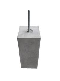 Betonpoer 20x20 Grijs met  draadeind