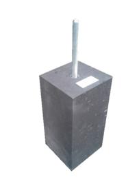 Betonpoer 15x15 antraciet  30cm hoog met draadeind