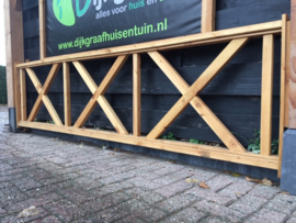 Kruis hekwerk Maatwerk max. 200 cm