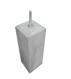 Betonpoer 15x15 Grijs met velling en draadeind