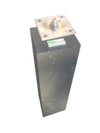 Betonpoer 15x15 antraciet met RVS bevestiginsplaat