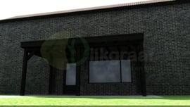 Aanbouw Veranda DeLuxe Zwart Douglas maatwerk max. 600x300 cm