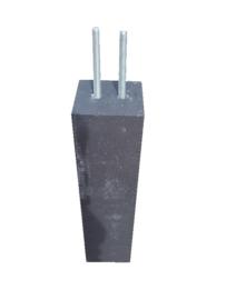 Betonpoer 15x15 voor schuttingpalen