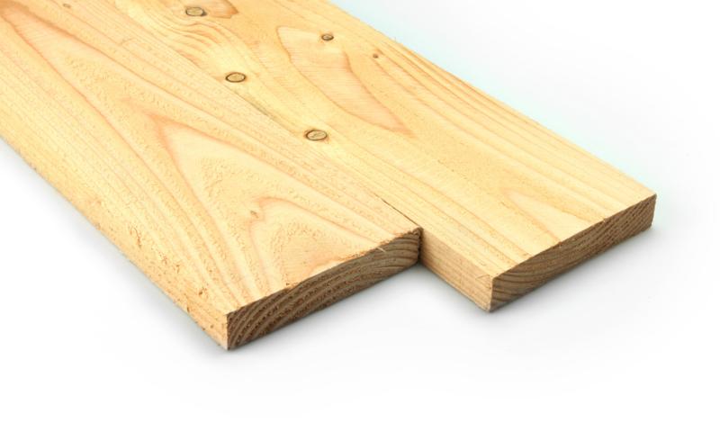 Douglas plank 20x100mm fijnbezaagd 300cm