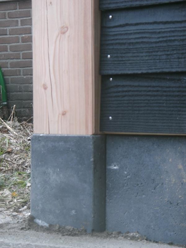 Super Betonpoer antraciet met draadeind | Poeren voor palen 15x15cm OM-59