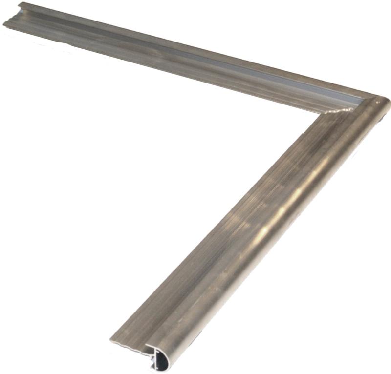 Aluminium daktrim met kraal buitenhoek