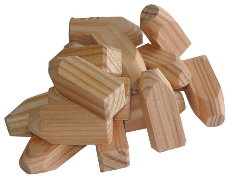 houten pennen/doken