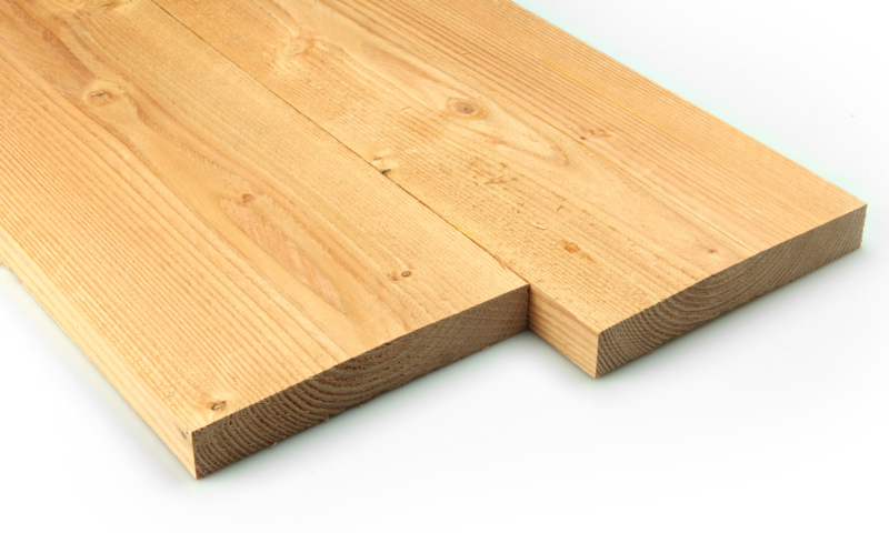 Douglas Plank 30x200mm fijnbezaagd 400 cm