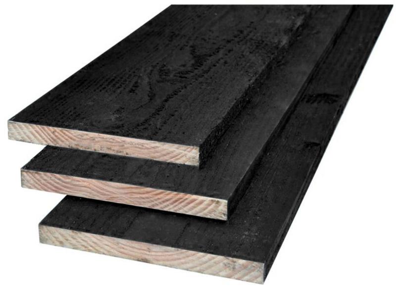 Douglas Plank 22x200 zwart 300 cm lang
