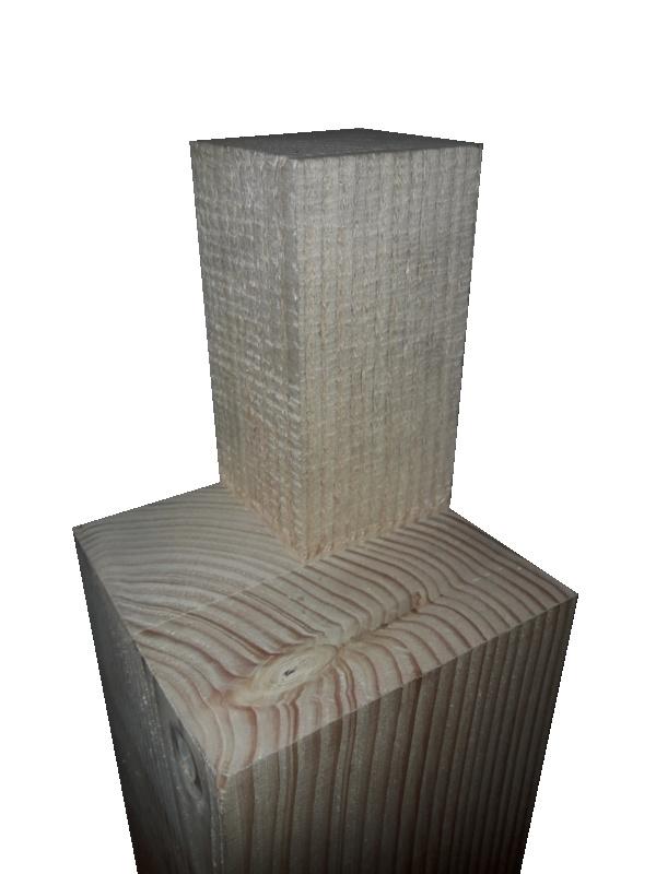 hoekpaal 120x120 inkeping 50x150