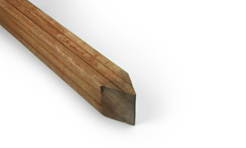Hardhouten paal azobe 70x70mm  275cm