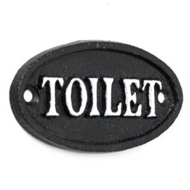 Metalen bordje. Toilet
