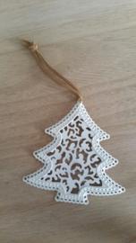 Witte kerstboom hanger.