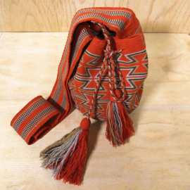 Wayuu bag roestkleurig Medium