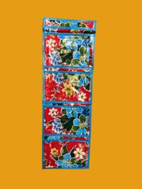 4- vaks opbergzak tafelzeil, diverse dessins