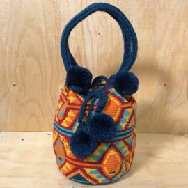 Wayuu schoudertas veelkleurig