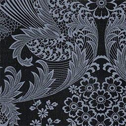 Tafelzeil paisley zwart