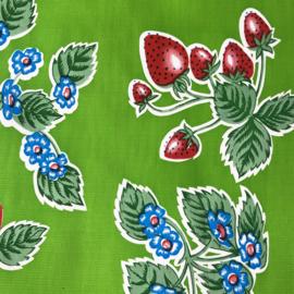 Mexicaans tafelzeil aardbeien op groen