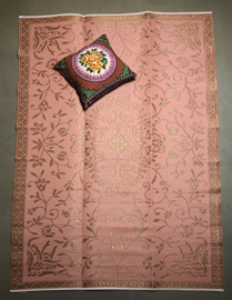 Plastic vloerkleed Gold pink | 180x270cm