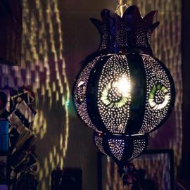 Marokkaanse tinnen lamp