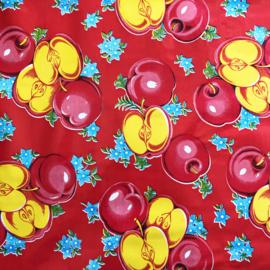 Tafelzeil appels op rood