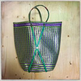 Gevlochten tas kleurrijk