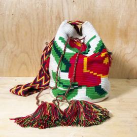 Wayuu bag rose white L.