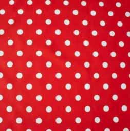 Polkadot rood tafelzeil