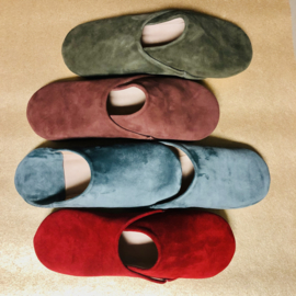 Suede babouches