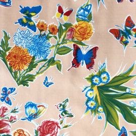 Mexicaans tafelzeil, bloem en vlinder