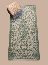 Plastic vloerkleed vanille groen | 90 x 180 cm