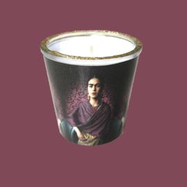 Kaarsen in glas met print