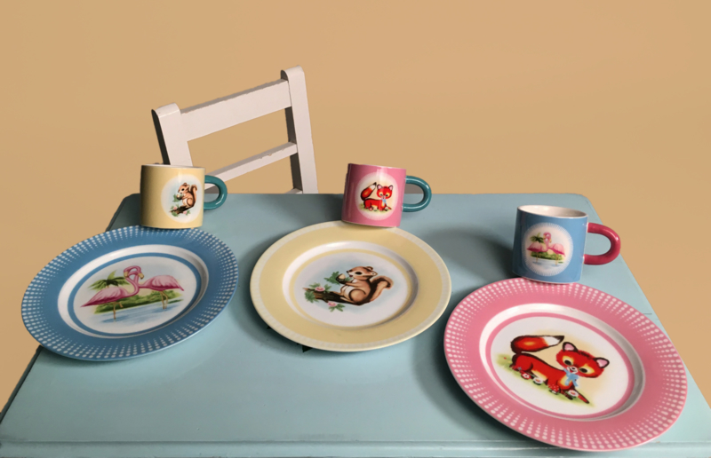 Kinderservies vintage