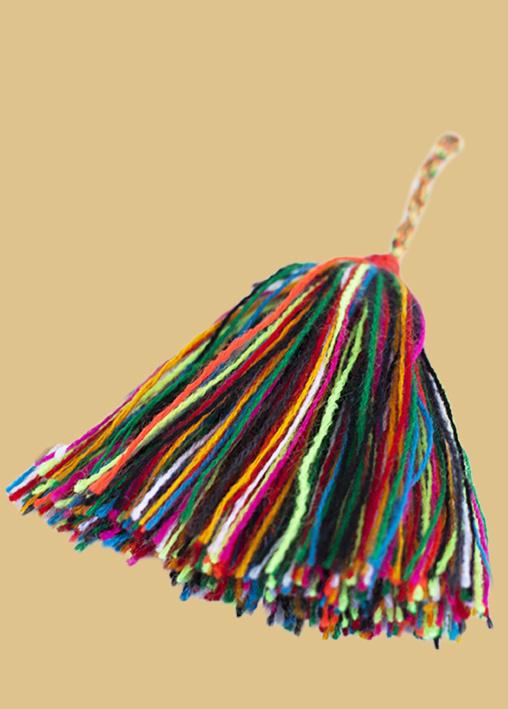 Sleutelhanger  tassel wol