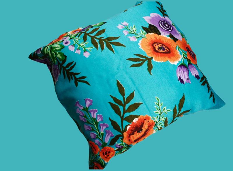 Bloemen kussenhoes