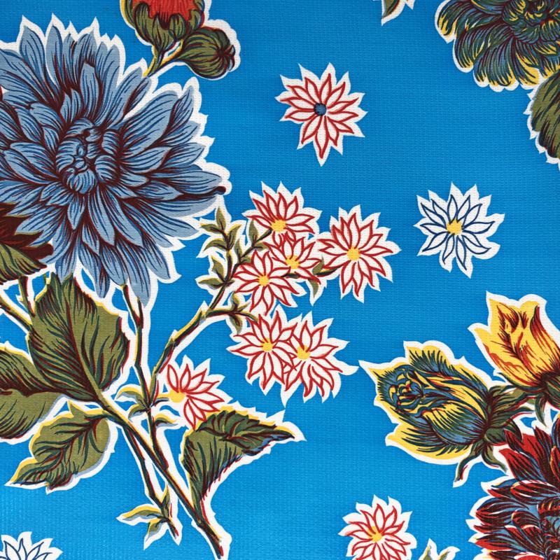 Tafelzeil Crisantemos blauw