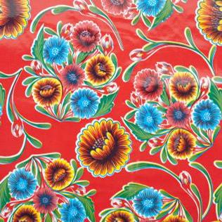 Tafelzeil Floral - rood