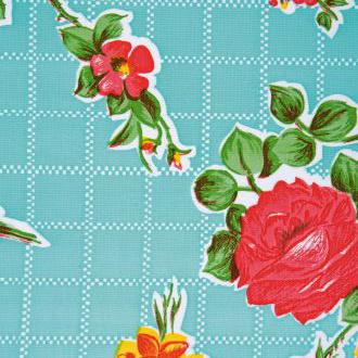 Tafelzeil Rosendal turquoise/ pistache