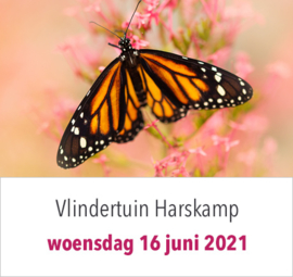 Excursie naar Vlindertuin Harskamp op woensdag 16 juni 2021