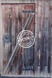 Mooie blauw/bruine oude deur