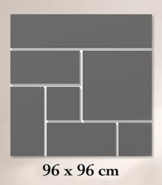 ClickBlocks Original compleet 96 x 96 cm (achterplaat wit)