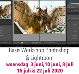 AANBETALING - Basis workshop Photoshop en Lightroom-juni/juli 2020