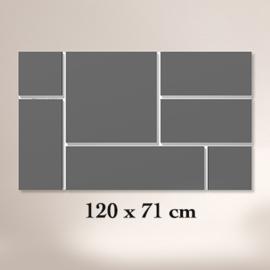 ClickBlocks Original compleet 120 x 72 cm (achterplaat wit)