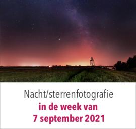 Nachtfotografie - sterren - inclusief nabewerkingsavond