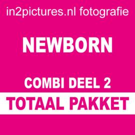 Totaal pakket Combi Deel 2 Newborn| Fotoshoot van ca. 90 minuten