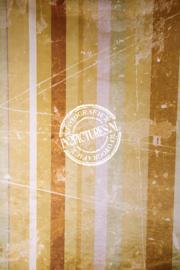 Vintage strepen bruin/geel