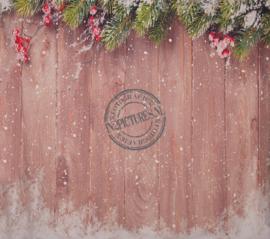 Winter houten schutting