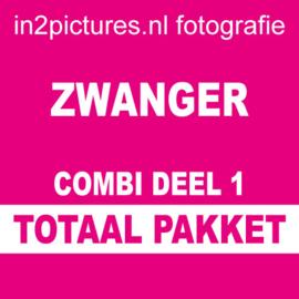 Totaal pakket Combi Deel 1 Zwanger | Fotoshoot van ca. 90 minuten